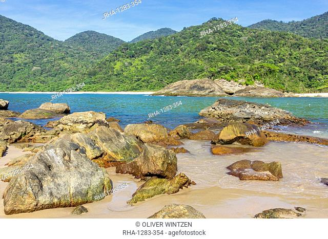 Meio Beach and Cachadaco Beach near Trindade, Paraty, Rio de Janeiro, Brazil, South America
