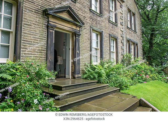 Doorway into Bront' home,Haworth, West Yorkshire, England
