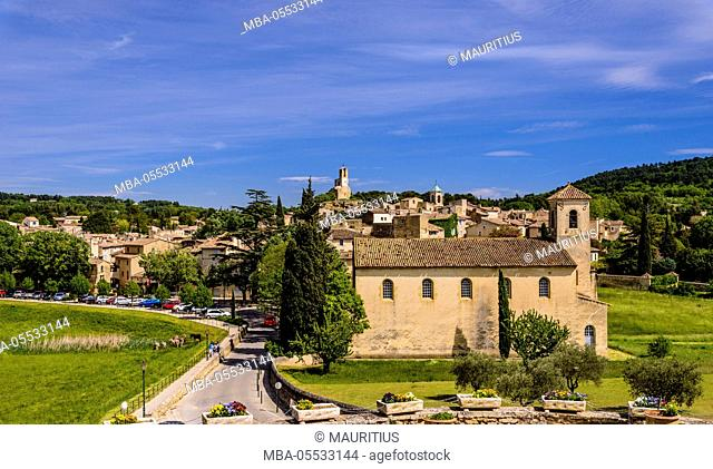 France, Provence, Vaucluse, Lourmarin, old town, view from the castle