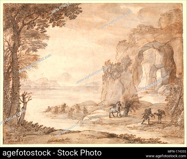 Perseus and the Origin of Coral. Artist: Claude Lorrain (Claude Gellée) (French, Chamagne 1604/5?-1682 Rome); Date: ca. 1671; Medium: Black chalk