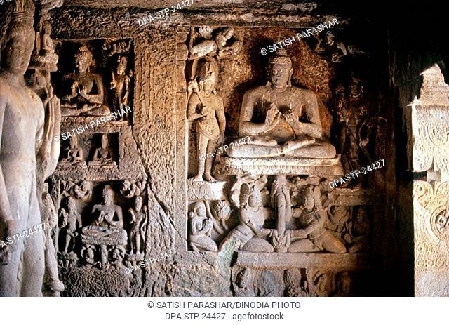 Detail from Ajanta Caves , Aurangabad , Maharashtra , india