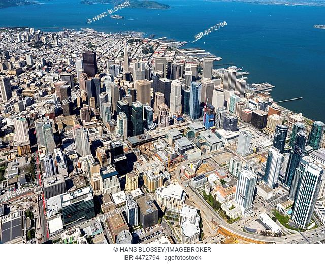 Financial District, downtown, midtown, San Francisco Bay Area, San Francisco, California, United States