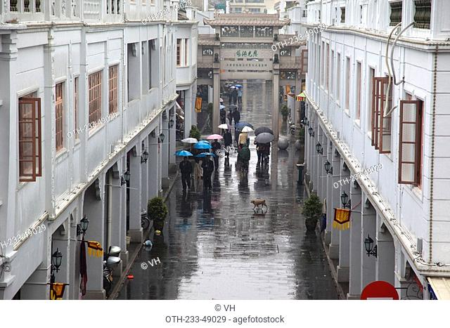 Street in old town Chaozhou, China
