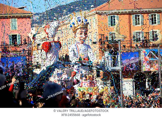 The carnival of Nice, Alpes-Maritimes, Côte d'Azur, French Riviera, France