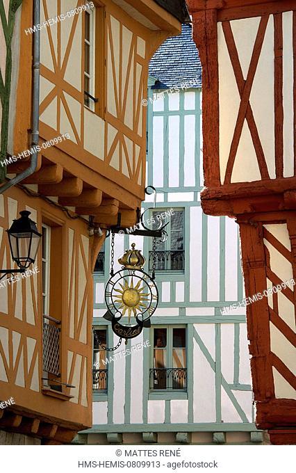 France, Morbihan, Golfe du Morbihan, Vannes, Place Henri IV