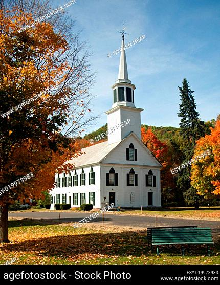 Townshend Church in Fall