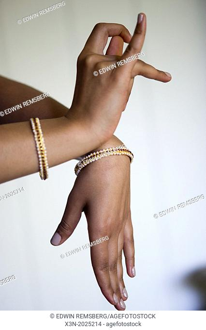 Hand gesture, Traditional Indian kuchipudi Dance. Suburban Washington DC USA