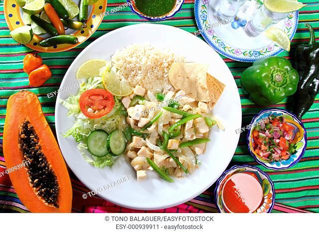 chicken mojo de ajo garlic sauce mexican chili sauces papaya and tequila