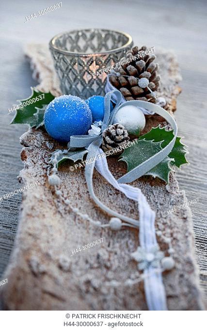 Weihnachtsdekoration im Freien