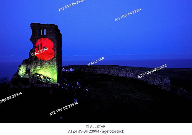 POPPY PROJECTION & CHOIR; SCARBOROUGH 100 YEARS BOMBARDMENT REMEMBRANCE 16/12/2014; 16/12/2014