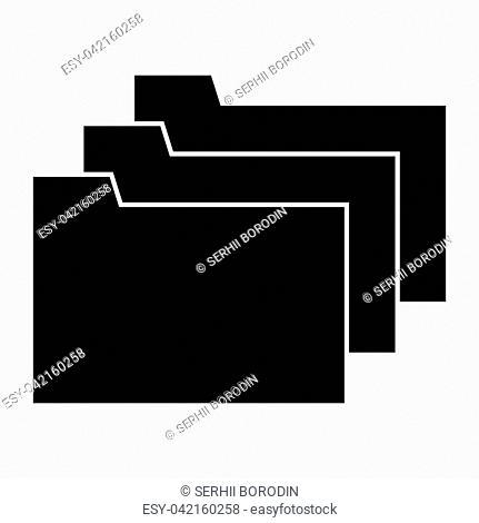 Folders it is black color icon