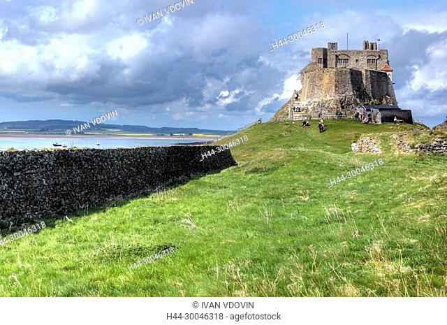 Lindisfarne castle, Holy Island, Northumberland, North East England, UK