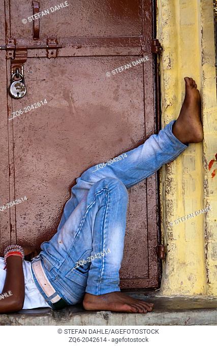 Foot in Varanasi, India