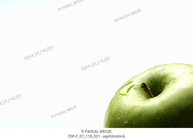 Close-up of a Granny Smith apple