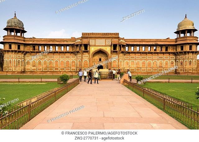 View of Jahangir Palace located in the Agra fort. Agra, Uttar Pradesh. India