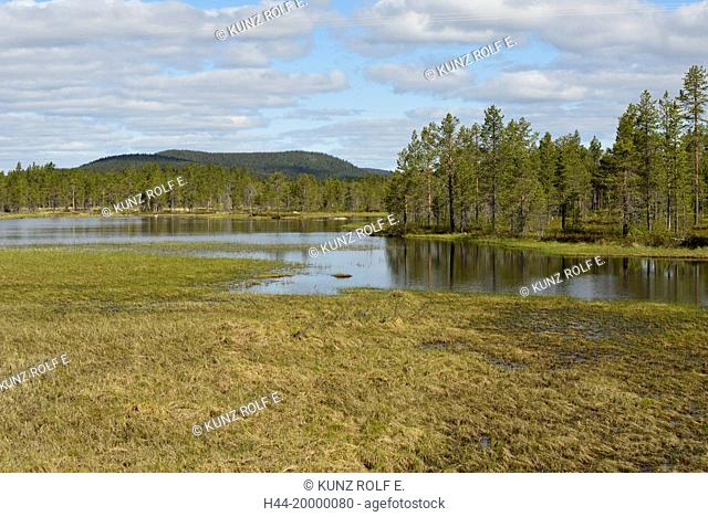 Lake in Norbottens county, Lapland, Sweden