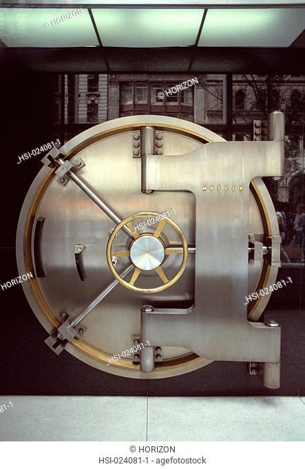 Architecture, Interior, Bank, Vault, Door