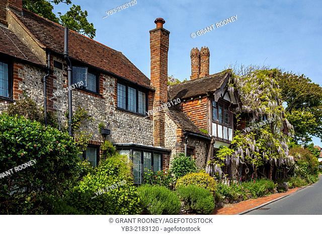 Tudor Housing, Rottingean, Sussex, England