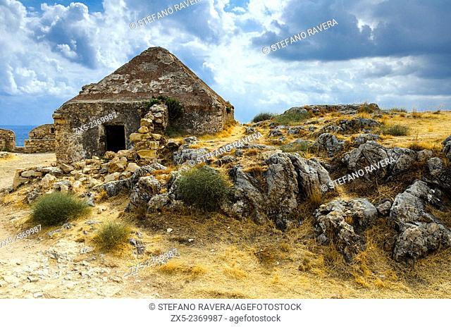 GunPowder Magazine in the Venetian fortress in Rethymno - Crete, Greece
