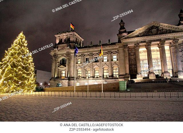 Reichstag in Berlin - Parliament Christmas time