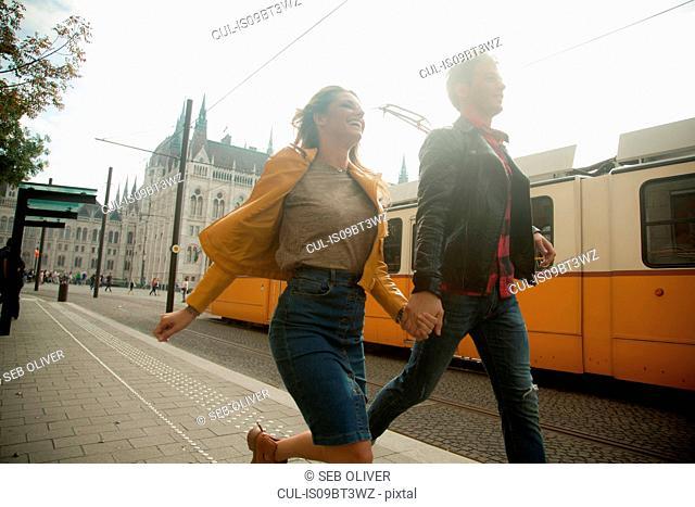 Couple on city break, Budapest, Hungary