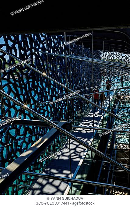 The Mucem museum by Rudy Ricciotti and Roland Carta, Marseille, Bouches du Rhone, France