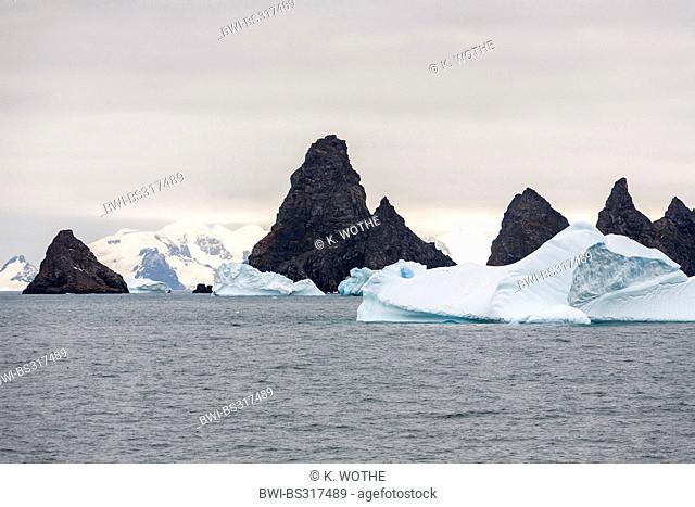 Laurie Island, part of the South Orkneys, at the Washington Strait in the South Polar Ocean, Antarctica, South Orkney Islands, Washington Strait, Laurie Island