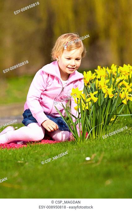 Small girl in park