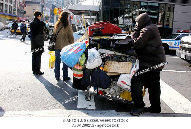 New York City, street scene , homeless , manhattan