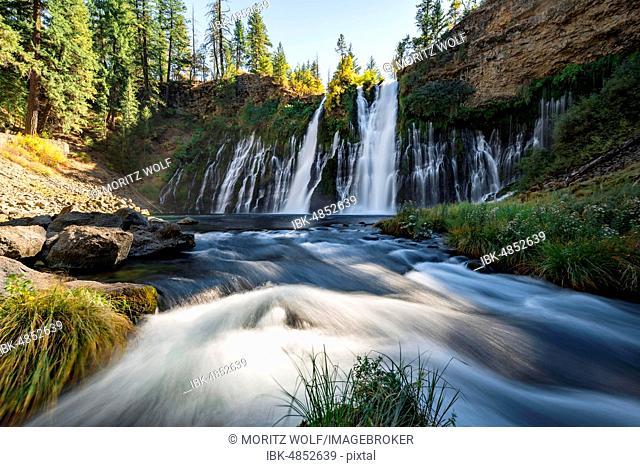 Waterfall, long-term image, McArthur-Burney Falls Memorial State Park, California, USA
