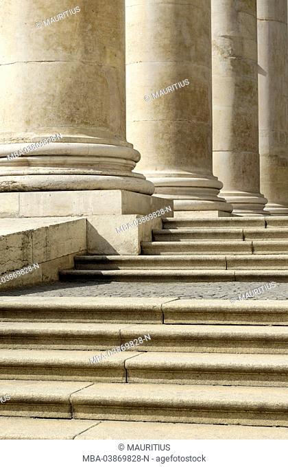 stairs and column of the Bavarian state opera Munich, Germany, Bavaria, Munich