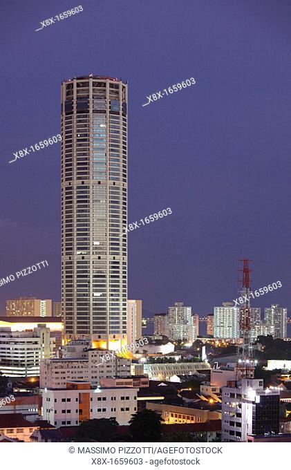 Menara Komtar tower, Georgetown, Penang, Malaysia