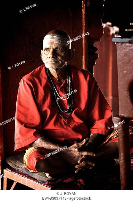 priest in a temple, India, Varanasi