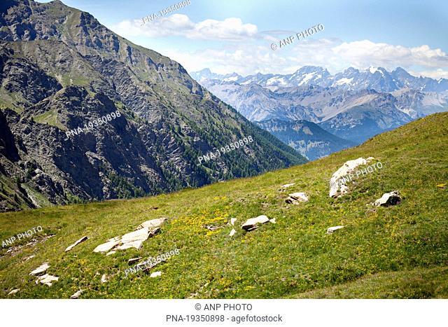 Col Agne, Molines-en-Queyras, Alps, Hautes-Alpes, Provence-Alpes-CÖte dıAzur, France, Europe