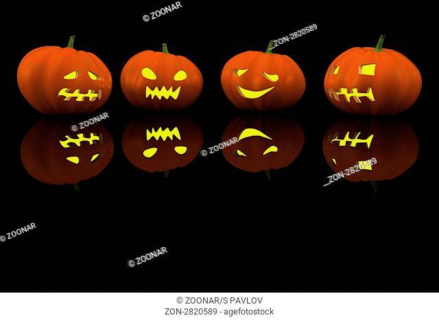 halloween pumpkin. 3d