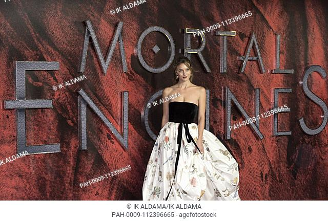 Leila George attends MORTAL ENGINES - World Premiere. London, UK. 27/11/2018 | usage worldwide. - London/United Kingdom of Great Britain and Northern Ireland
