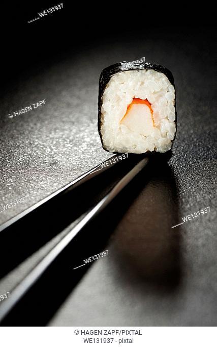 maki sushi with surimi