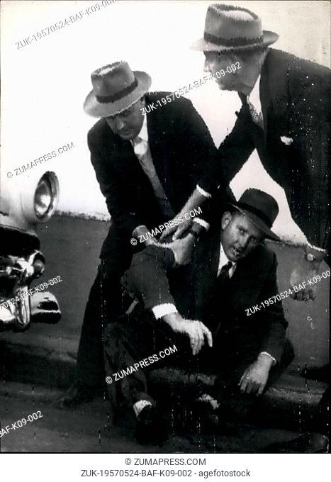 May 24, 1957 - 24-5-57 Man goes berserk with shotgun in Sydney. Kills one, wounds two ?¢'Ǩ'Äú Charles Spittiri, a Maltese migrant went berserk with a shotgun...