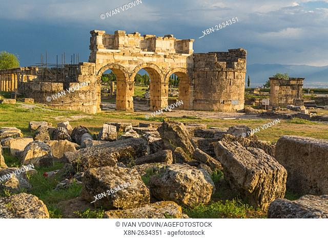 Ruins of ancient Hierapolis, Pamukkale, Denizli Province, Turkey