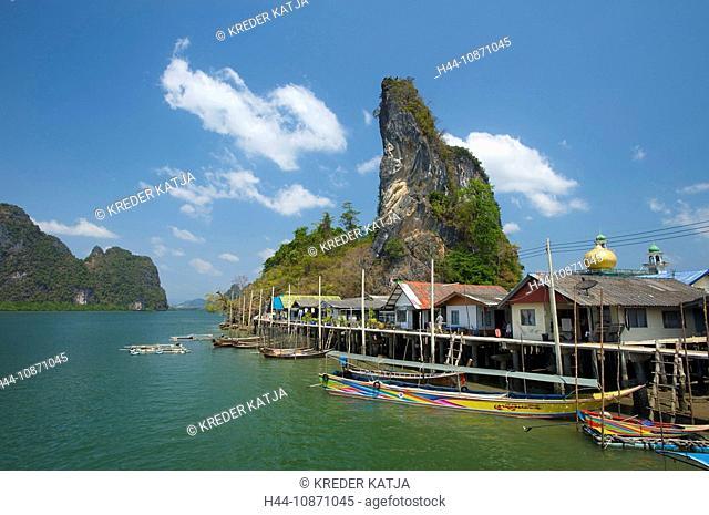 Muslimisches Fischerdorf Pannyi, Phang Nga Bucht, Thailand