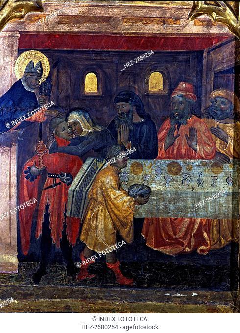 Altarpiece of Saint Nicholas, Saint Claire and Saint Anthony. Table representing scenes of the li?