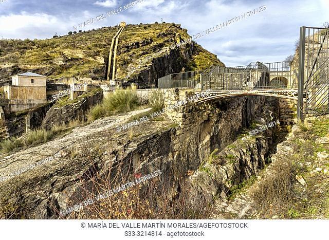 Ponton de la Oliva damm and Isabel II Channel in Patones. Madrid. Spain. Europe