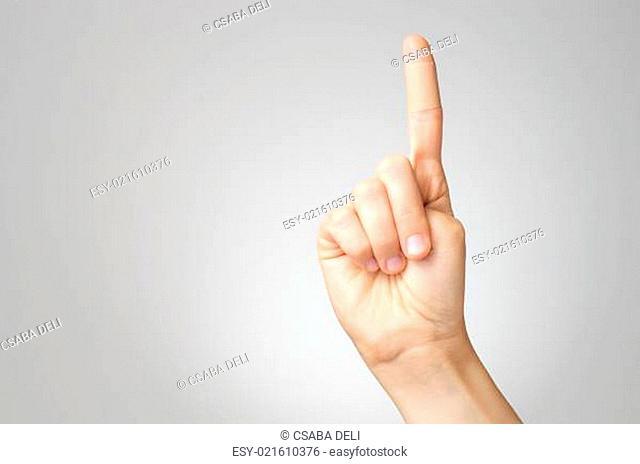 Plaster on female finger