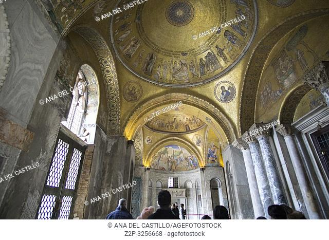 Venice, Veneto, Italy: St Marks church interior