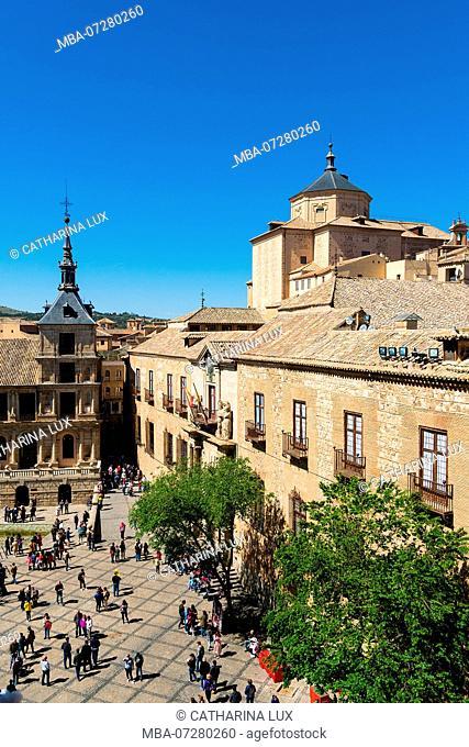 Spain, Toledo Catedral, tower climb, view Iglesia San Marcos