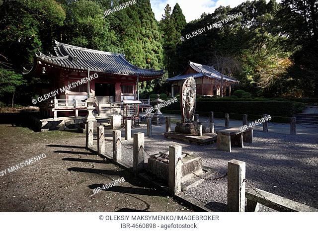 Fudodo Hall with Fudo Myo-o, Acalanatha or Acala statue at Goma-dojo, Shimo-Daigo part of Daigoji complex, Daigo-ji temple, Shingon Buddhist temple, Fushimi-ku