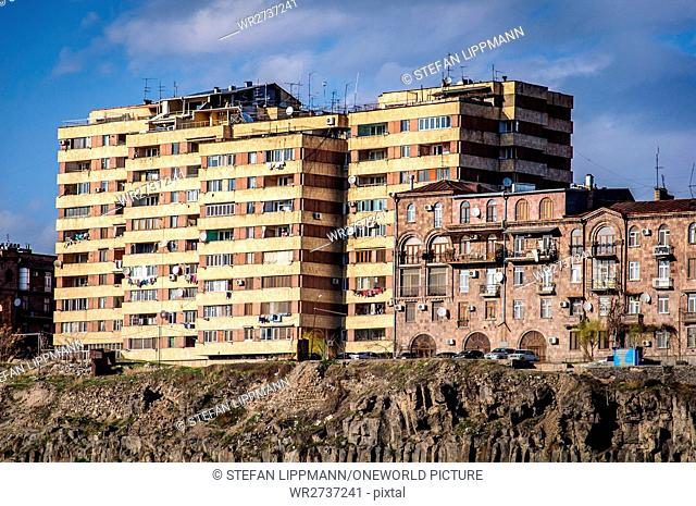 Armenia, Yerevan, Kentron, residential block