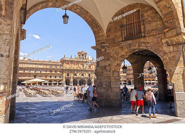Plaza Mayor de Salamanca. Ciudad Patrimonio de la Humanidad. Castilla León. España
