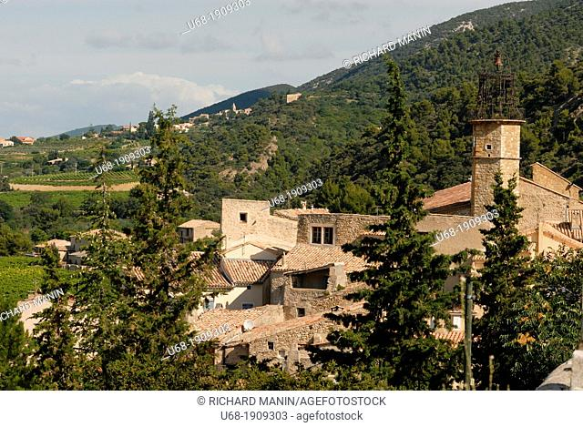 France Drome Provence the village of Venterol and its bell tower from the 17th century