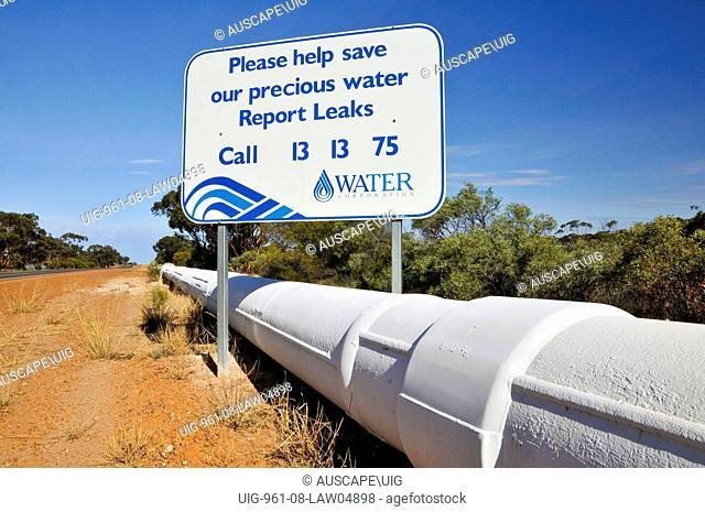 Kalgoorlie water pipeline, Australia